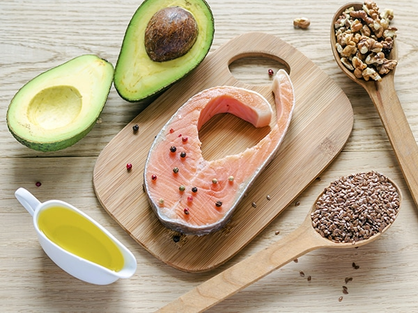 Some foods that contain healthy fats